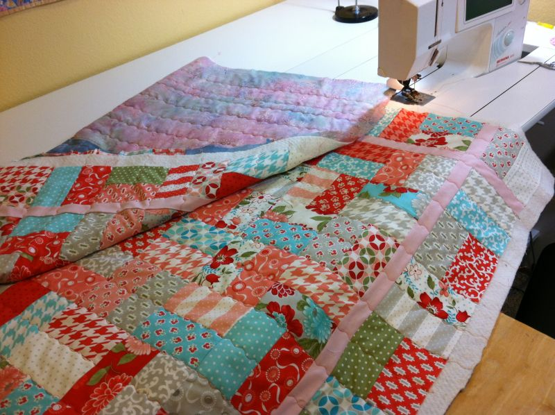 New Quilt Being Machined